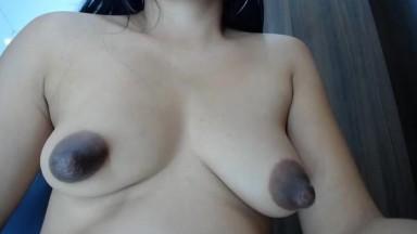 huge black tits of petite pregnant