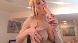 Busty Blonde Bares Perfect Breasts To Reveal