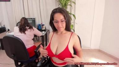 Milf developers masturbating in office