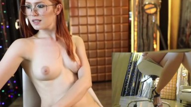 Redhead cam model in her record time