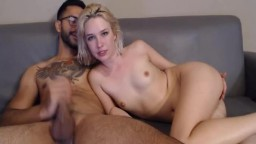 Blonde Hottie Gets Her Face Fuck By Her Dude