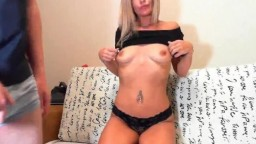 Latvian Hottie Gets Her Face Fucked By Her Boyfriend