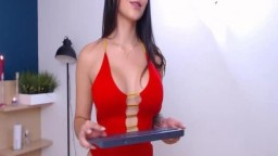 Full-bosomed Angel Strip And Play Live