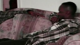 Horny black couple gives pleasure to each other