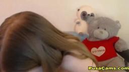 18 Sexy Brunette Teen Hello Sister CAUGHT Masturbating