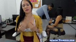 Shemale Couple on Sizzling Blowjob and Handjob