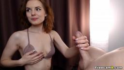 Cute Babe Licks and Sucks that Big Hard Dick