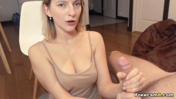 Blonde Chick Gives a Good Rimming and BJ