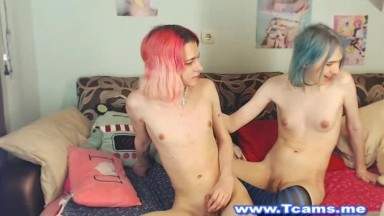 Skinny Emo Tgirls in Sizzling Hot Cam Show