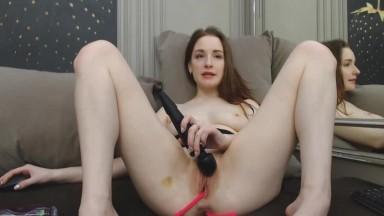 Brunette Sex Goddess Invitingly Naughty