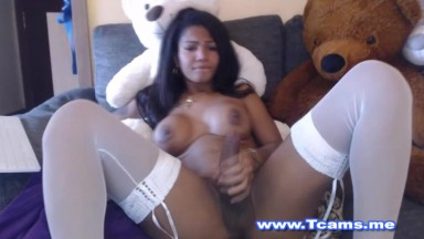 Latina Shemale with Big Tits and Big Dick
