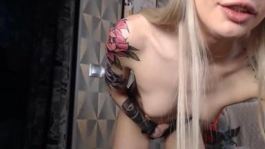 Blonde Babe Licks Salaciously Sweet Tease