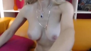 Brunette With Big Tits Riding It On Leather