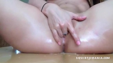 Pussy and Ass All in Squirting CUM soaking WET