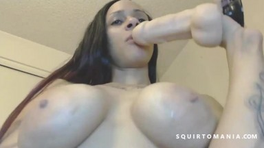 Big Black Ass Latina Squirting Again and Again WOW!