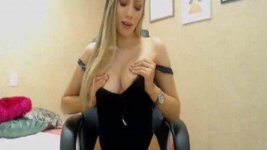 Blonde Babe Brings Playfulness Seduces Slowly