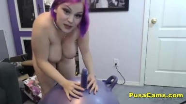 Purple Busty Midget aka A Very Small Women
