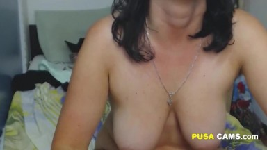 Making A Mess On My Horny Wifes Tits