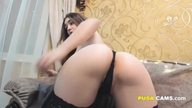 Beautiful Brunette Teen in Sexy Lingerie Pure Passion Show