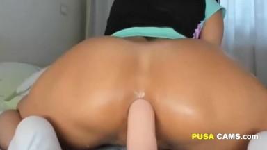 Hot Latina Teen Anal Closeup with Perfect Bubble Ass