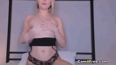 Pretty Blonde Dildo Fucked Cunt