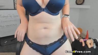 Natural Tit Slut Rides Her Toy