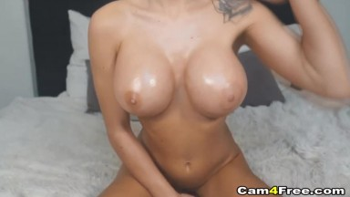 Seductive Busty Babe Squirts a Lot