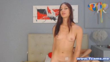 Busty Sexy Shemale Awesomely Jerking Cock
