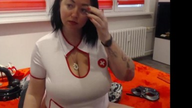 Czech bbw nurse please herself