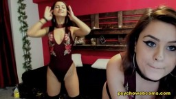 Brunette Babes Heat Up Their Live Show